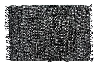 Ess Ess Exports Rodeo Handmade Black Area Rug; Rectangle 2' x 3'