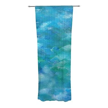 KESS InHouse Ocean Waters Abstract Semi-Sheer Curtain Panels (Set of 2)