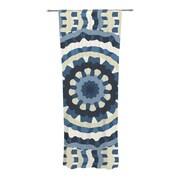 KESS InHouse Ribbon Mandala Abstract Semi-Sheer Curtain Panels (Set of 2)