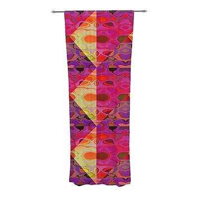 KESS InHouse Allicamohot Geometric Sheer Rod Pocket Curtain Panels (Set of 2)
