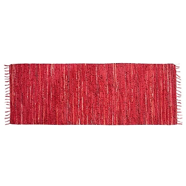 Ess Ess Exports Rodeo Handmade Red Area Rug; Runner 2' x 6'