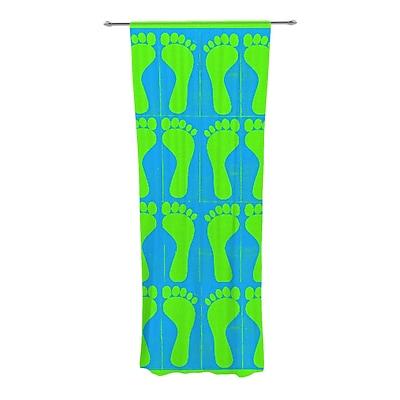 KESS InHouse Footprints Graphic Print and Text Semi-Sheer Rod Pocket Curtain Panels (Set of 2) WYF078277545341