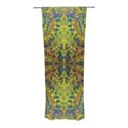KESS InHouse Yellow Jacket Abstract Semi-Sheer Rod Pocket Curtain Panels (Set of 2)
