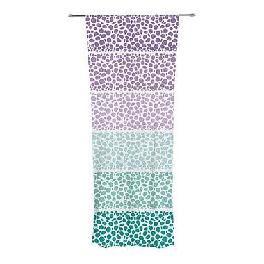 KESS InHouse Riverside Pebbles Geometric Semi-Sheer Rod Pocket Curtain Panels (Set of 2)