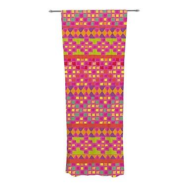 KESS InHouse Mexicalli Geometric Semi-Sheer Curtain Panels (Set of 2)