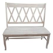 International Concepts Wood 'X' Back Bench