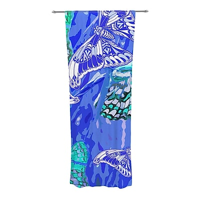 KESS InHouse Butterflies Party Wildlife Sheer Rod