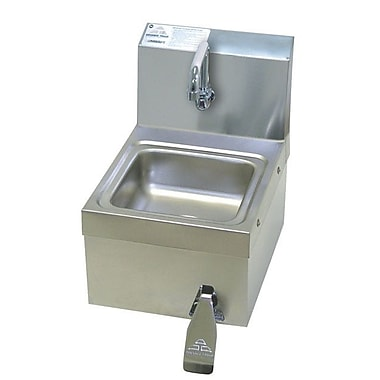 Advance Tabco 12.25'' x 16'' Single Space Saver Free Hand Sink w/ Faucet