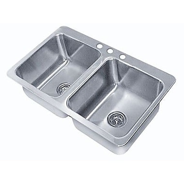 Advance Tabco Triple Seamless Bowl 3 Compartment Drop-in Sink; 10'' H x 33'' W x 21'' D