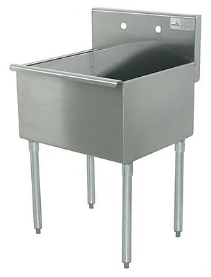 Advance Tabco 600 Series Single 1 Compartment Floor Service Sink; 41'' H x 21'' W x 24'' D