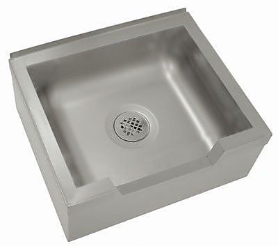 Advance Tabco Single Floor Mounted Mop Sink; 12'' H x 33'' W x 25'' D