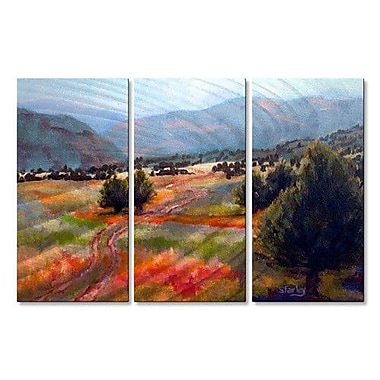 All My Walls 'Shortcut' by Sandy Farley 3 Piece Painting Print Plaque Set