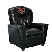 Imperial NFL Tween Kids Faux Leather Recliner w/ Cup Holder; Chicago Bears