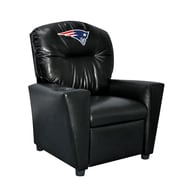 Imperial NFL Kids Faux Leather Recliner w/ Cup Holder; New England Patriots