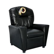 Imperial NFL Kids Faux Leather Recliner w/ Cup Holder; Washington Redskins