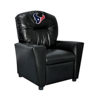 Imperial NFL Kids Faux Leather Recliner w/ Cup Holder; Houston Texans