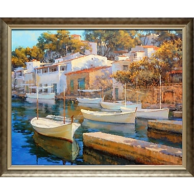 North American Art 'Cala Figuera 24' Framed Print