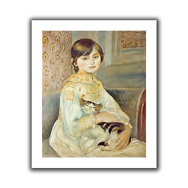 ArtWall Julie Manet w/ Cat' by Pierre Renoir Painting Print on Rolled Canvas; 24'' H x 28'' W