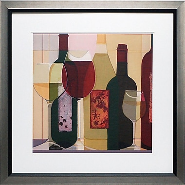 North American Art 'Wine Stock' by Julia Hawkins Framed Painting Print