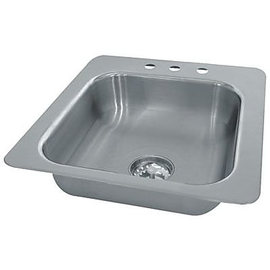 Advance Tabco Single Seamless Bowl 1 Compartment Drop-in Hand Sink; 10'' H x 17'' W x 19'' D