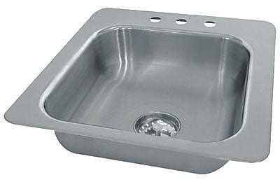 Advance Tabco Single Seamless Bowl 1 Compartment Drop-in Hand Sink; 10'' H x 17'' W x 15'' D