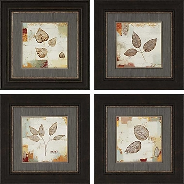 Paragon Silver Leaves by Wiens 4 Piece Framed Painting Print Set