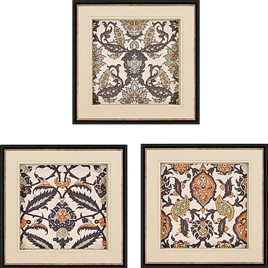 Paragon Persian Tiles II Giclee 3 Piece Framed Graphic Art Set