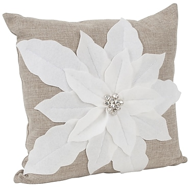 Saro Throw Pillow; White