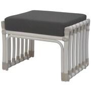 David Francis Furniture Laguna Ottoman w/ Cushion; Pacific Blue