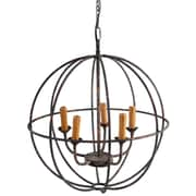 A&B Home 5-Light Globe Pendant