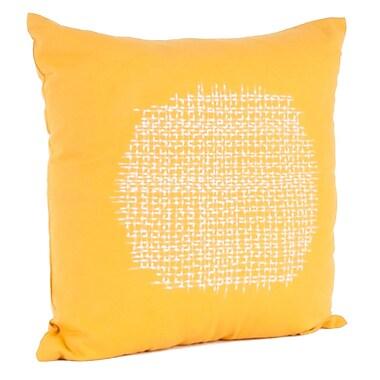 Saro Spice Market Stitched Cotton Throw Pillow; Saffron