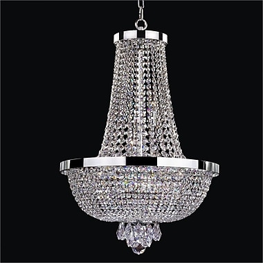Glow Lighting Modern Times 9-Light Empire Chandelier; Signature Clear Crystal