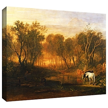 ArtWall 'The Forest of Bere' by William Turner Painting Print on Wrapped Canvas; 24'' H x 32'' W