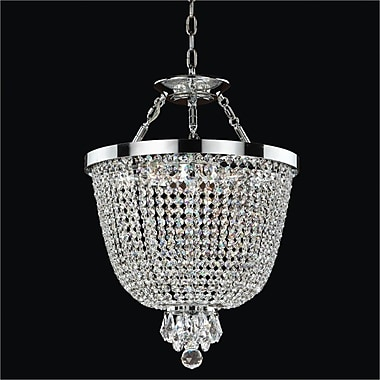 Glow Lighting Modern Times 3-Light Duo Mount Pendant; Signature Clear Crystal
