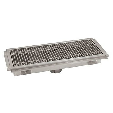 Advance Tabco Floor Trough Grid Shower Drain; 24'' D x 54'' W
