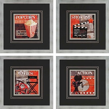 Paragon Show Time by Smith 4 Piece Framed Vintage Advertisement Set