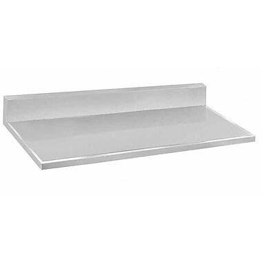 Advance Tabco Backplash Single Bathroom Vanity Top; 12'' H x 60'' W x 30'' D