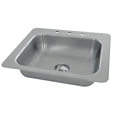 Advance Tabco Single Seamless Bowl 1 Compartment Drop-in Hand Sink; 5.5'' H x 17'' W x 15'' D