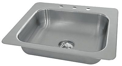 Advance Tabco Single Seamless Bowl 1 Compartment Drop-in Hand Sink; 5.5'' H x 19'' W x 19'' D