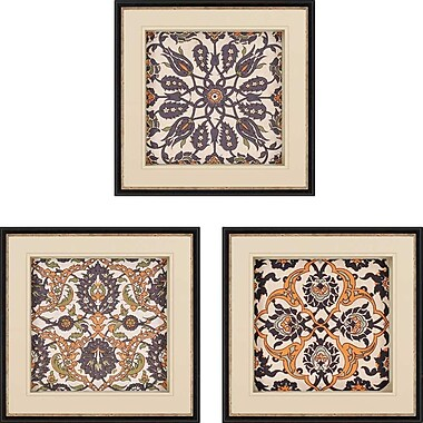 Paragon Persian Tiles III Giclee 3 Piece Framed Graphic Art Set