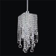 Glow Lighting Cityscape 1-Light Crystal Mini Pendant