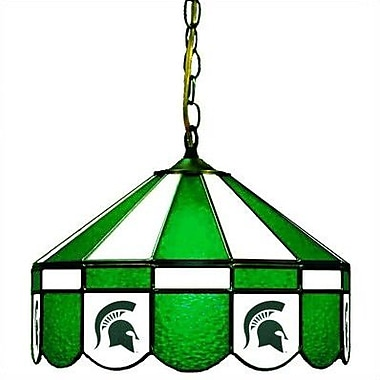 Wave 7 NCAA Wide Swag Hanging Lamp; Michigan State