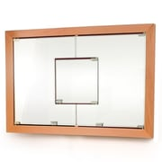 D'Vontz MDV Modular Cabinetry 38.5'' x 26.5'' Recessed Medicine Cabinet; Golden Oak