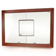 D'Vontz MDV Modular Cabinetry 38.5'' x 26.5'' Recessed Medicine Cabinet; Traditional Cherry