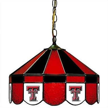 Wave 7 NCAA Wide Swag Hanging Lamp; Texas Tech