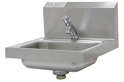 Advance Tabco 17.25'' x 17.25'' Single Wall Mounted HACCP Compliant Hand Sink w/ Faucet