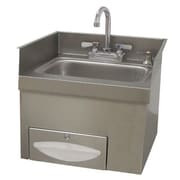 Advance Tabco 18.25 inch x 17.75 inch Single Countertop Hand Sink w/ Faucet by