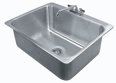 Advance Tabco 304 Series 31'' x 25'' Single Seamless Bowl Drop-in Sink w/ Faucet
