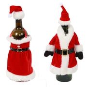 DEI 2 Piece Mr. and Mrs.Claus Bottle Topper Set