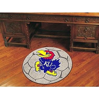 FANMATS NCAA University of Kansas Soccer Ball